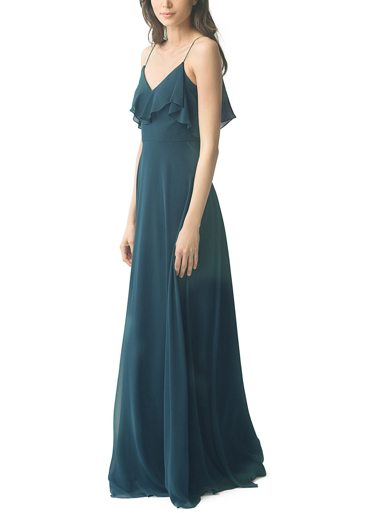 2a8fa7481cc Take a look at this gorgeous Jenny Yoo Mila bridesmaid dress in teal blue  fabric! Available in sizes 0-24 and tons of colors at Brideside.