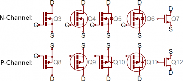 Variety Of Mosfet Symbols Electronic Schematics Electronics Basics Computer Sticker