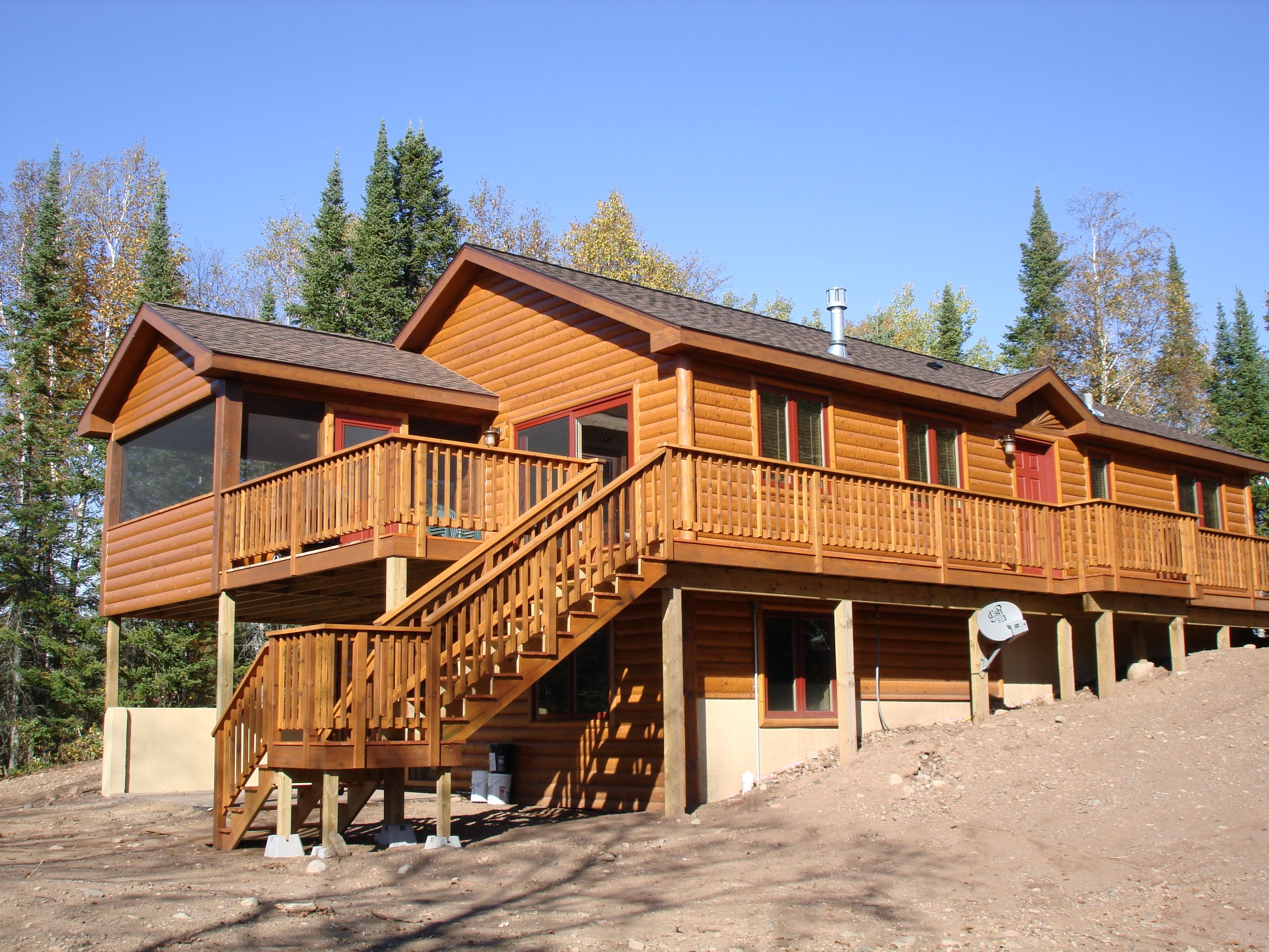cabins mn country sale and united log state for homes ne in