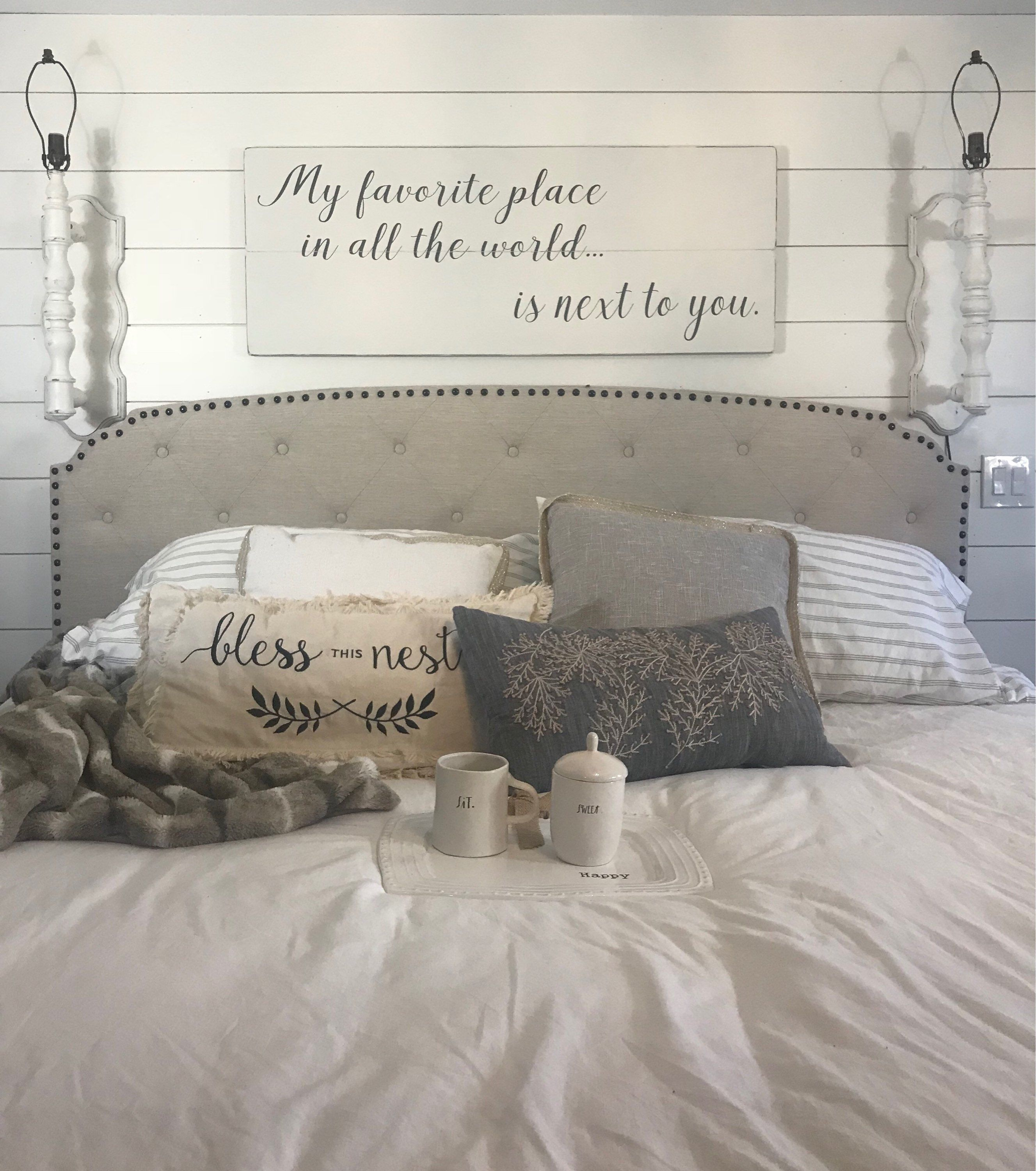 Bedroom wall decor bedroom sign my favorite place in all  Etsy