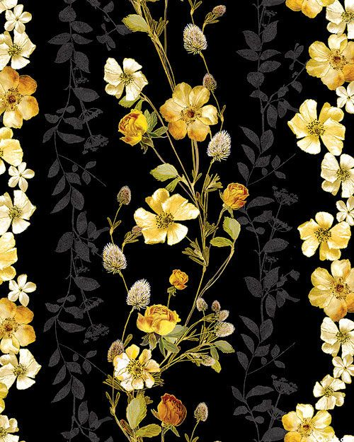 Natural Beauty Wild Rose Garlands Black Gold Flower