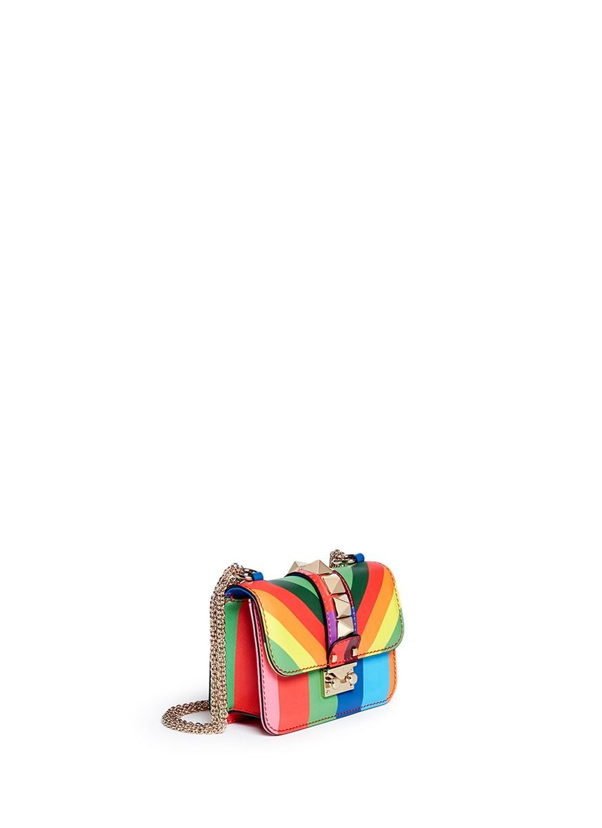 VALENTINO 'Rockstud 1973' mini leather chain bag