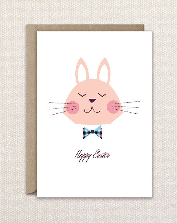 Easter card- rabbit