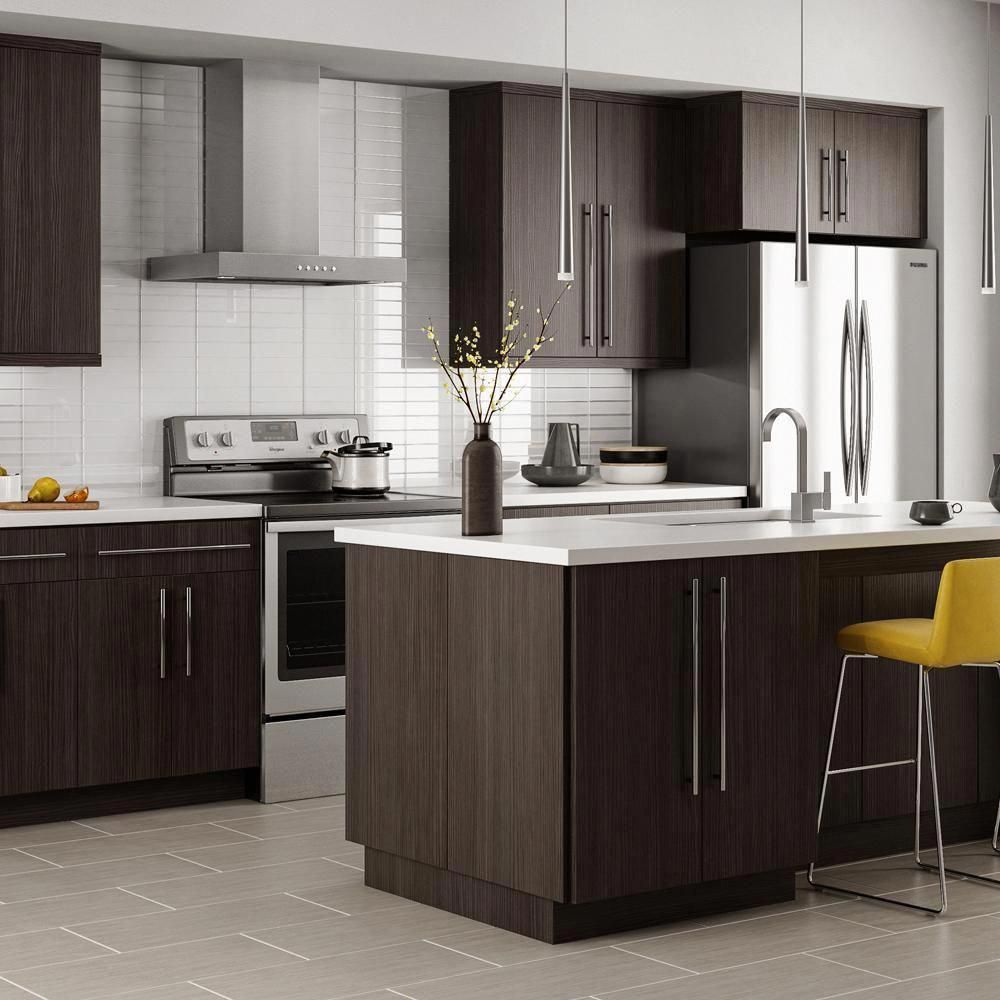 Hampton Bay Designer Series Edgeley Assembled 24x30x12 25 In Diagonal Wall Kitchen Cabinet In Thunder Wc2430 Edth The Home Depot Kitchen Design Kitchen Trends Kitchen Cabinet Trends