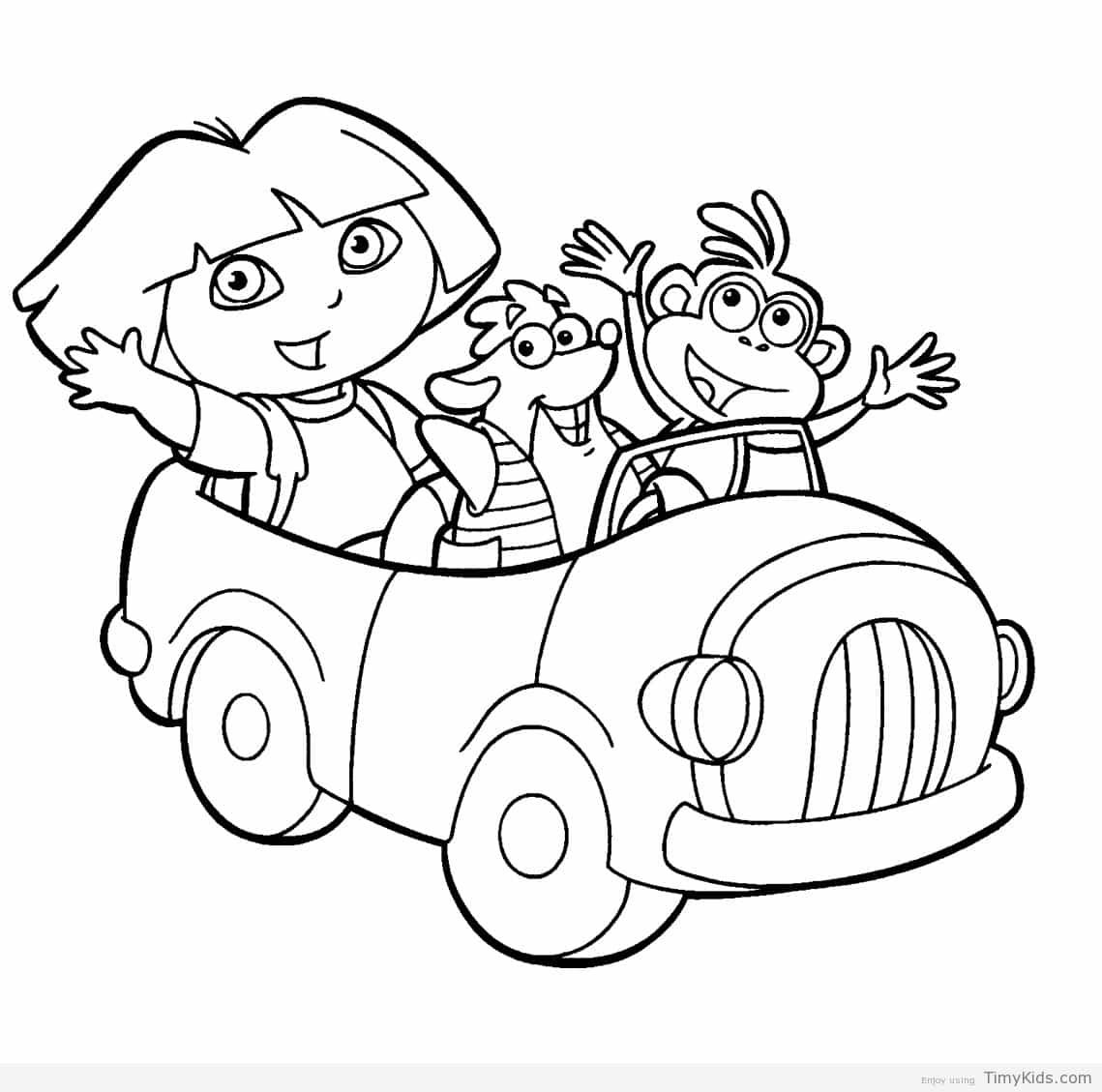 http://timykids.com/dora-the-explorer-coloring-page.html | Colorings ...