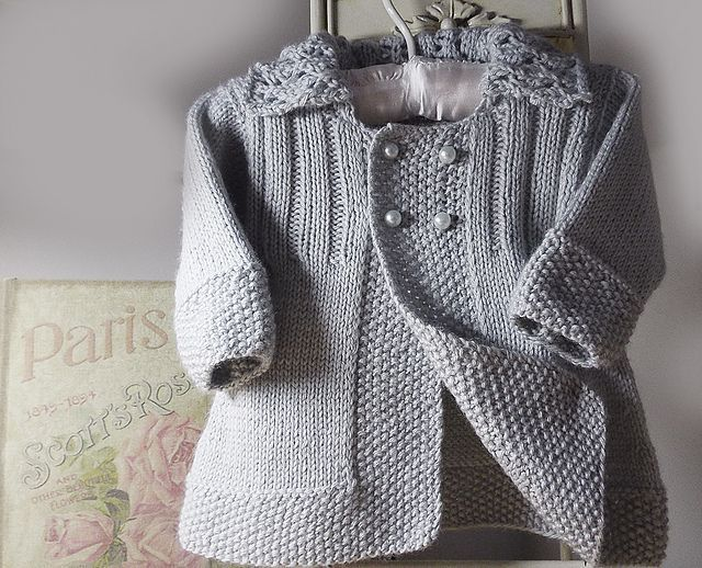 2b5f4119d Baby girls jacket with lace collar P063 pattern by OGE Knitwear ...