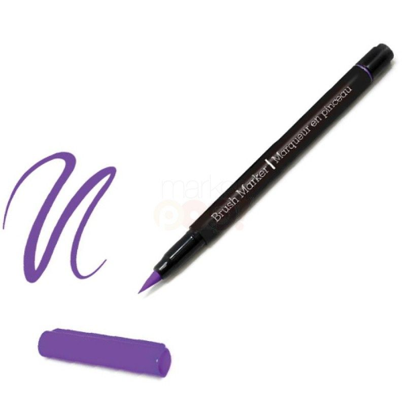 Color Factory Long-Tip Brush Marker - Purple