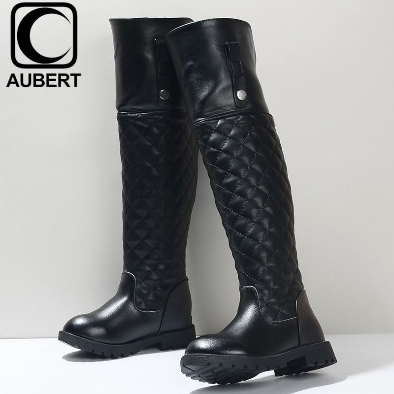 Boots Winter New Children Leather Knee