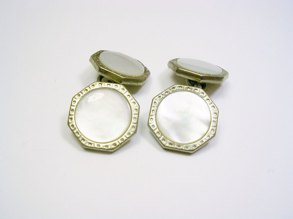 Cuff Links Double Sided Mid Century