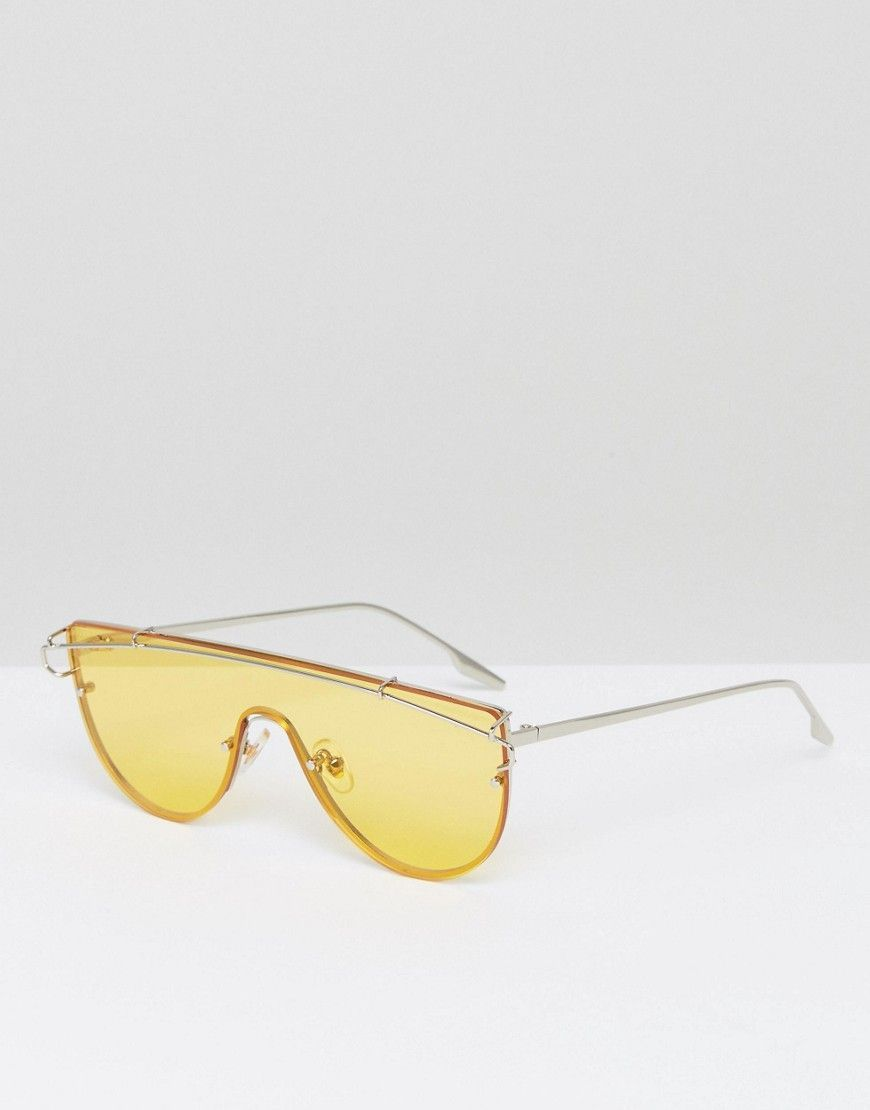 9605fae616 Jeepers Peepers Yellow Tinted Lens Visor Sunglasses - Yellow ...