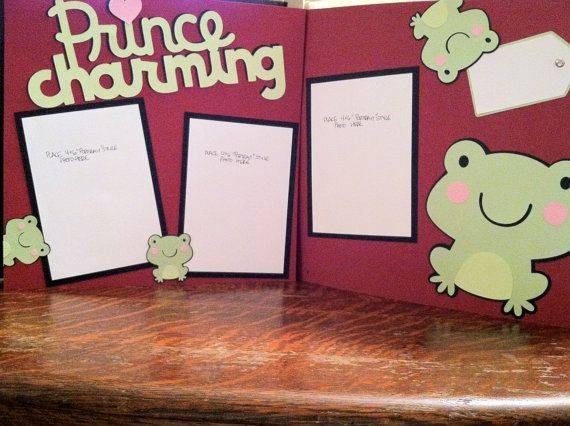 Prince Charming and Froggies Pre Made 12 x 12 by aSavvyScrapbooker, $10.00