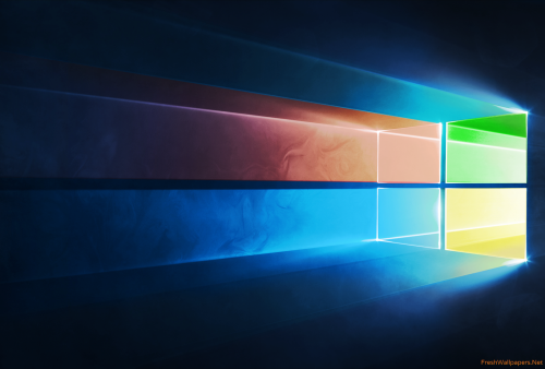 Windows 10 Official in Four Colors wallpapers