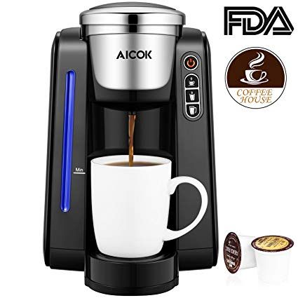 Aicok Single Serve Programmable Coffee Maker Five Brew Sizes For