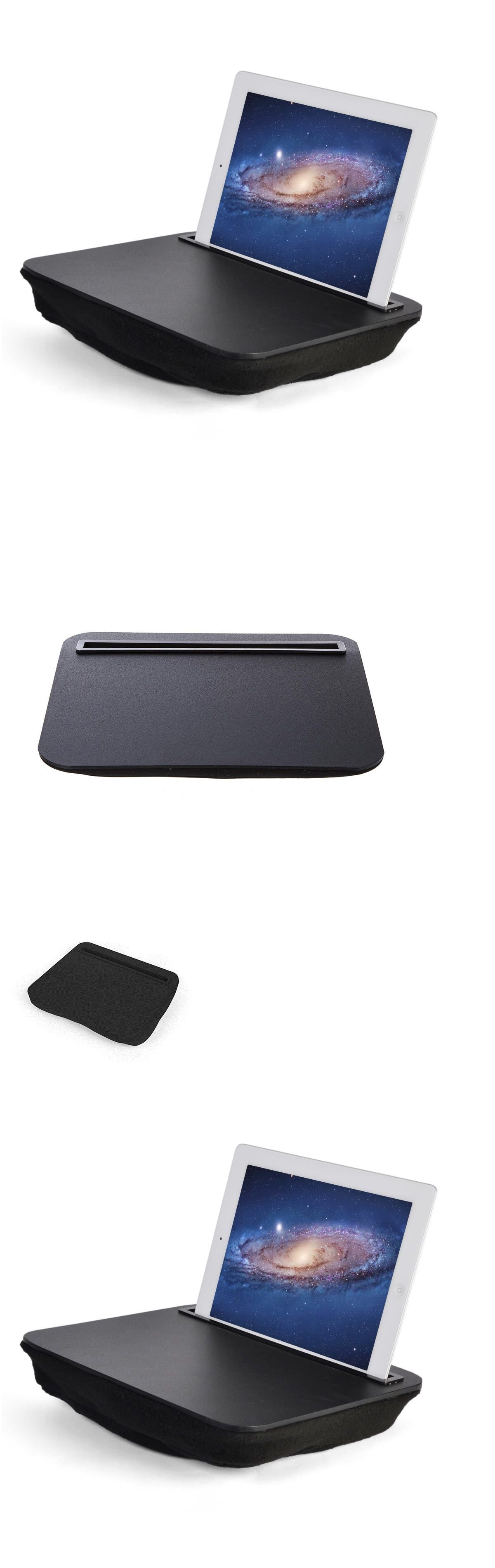 iTray Lap Desk iBed Black iPad Universal Tablet eReader Microbead Cushion Stand