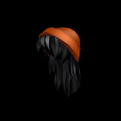 3 Orange Beanie With Black Hair Roblox