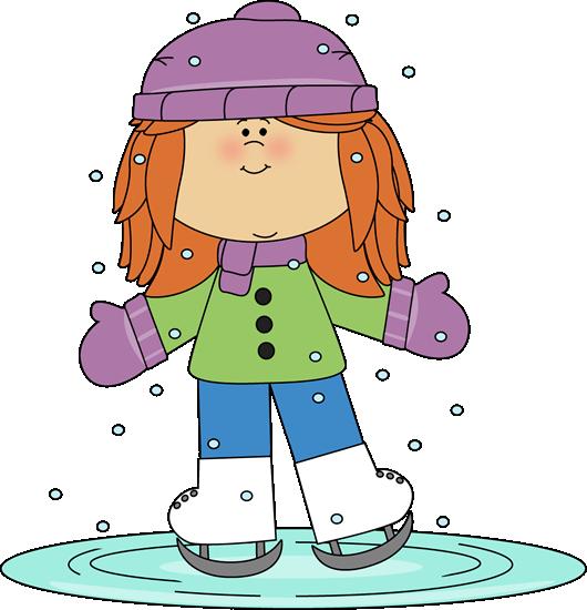 Girl ice skating. | Winter Clip Art | Ice skating images ...