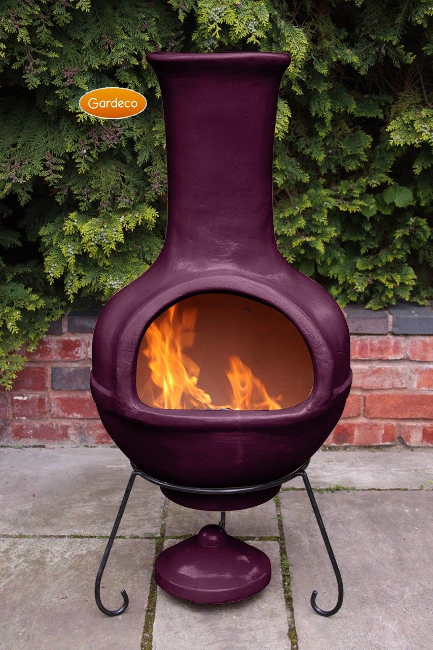 Colima Mexican Chiminea Aubergine Jumbo In The Garden Pinterest