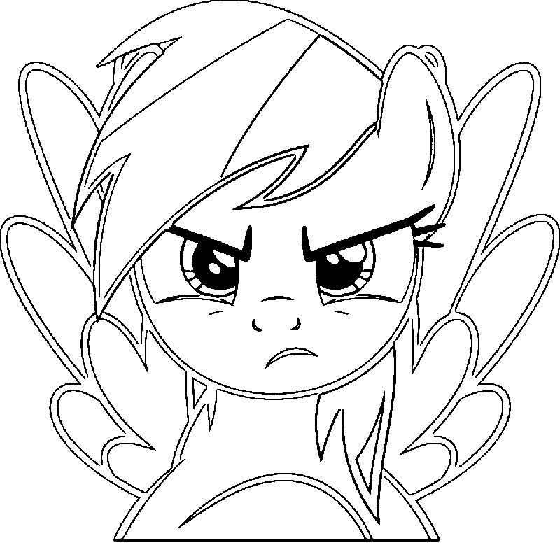 Rainbow Dash Coloring Page 516 In 2020 Unicorn Coloring Pages Coloring Pages My Little Pony Coloring