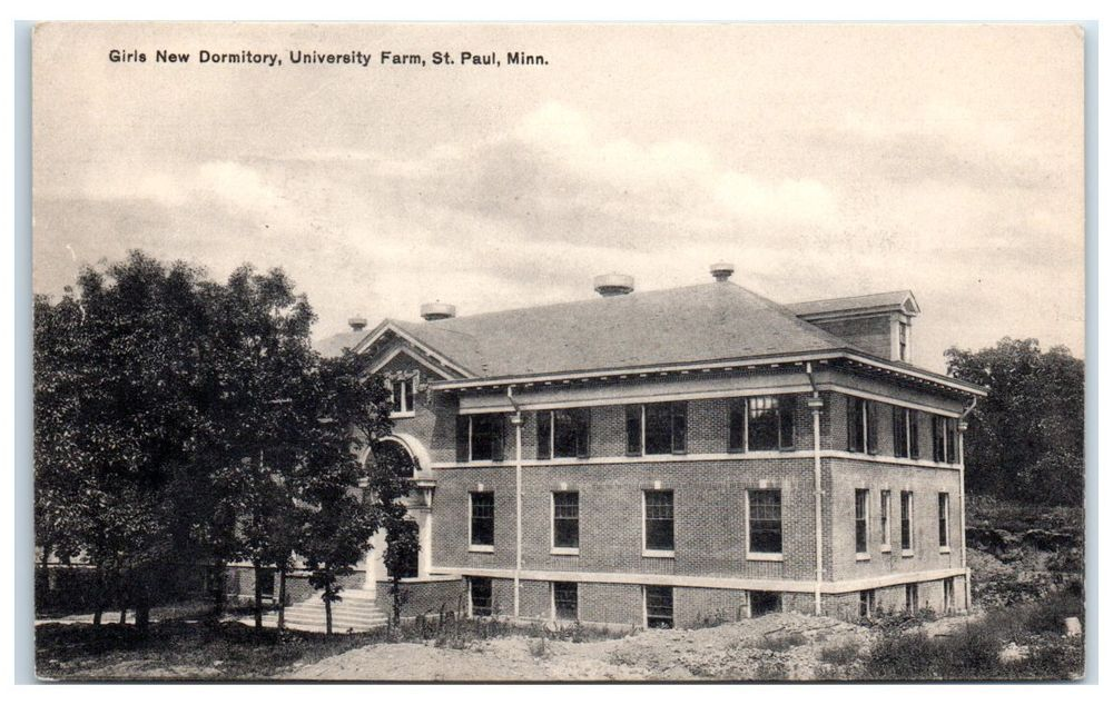 Early 1900s Girls Dormitory, University Farm (U of M), St. Paul, MN Postcard #BloomBros