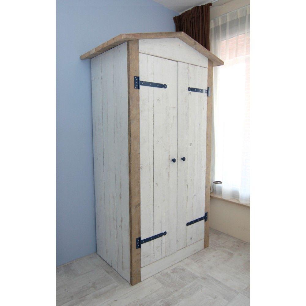steigerhout kledingkast kinderkamer idee235n voor het huis