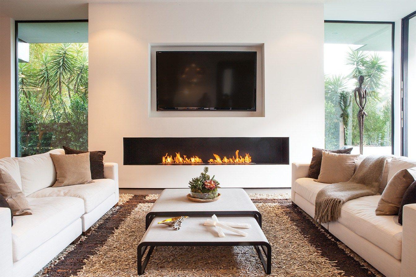 Firebox 2100ss | Dream Home BEST | Cheminée à l\'éthanol, Salon avec ...