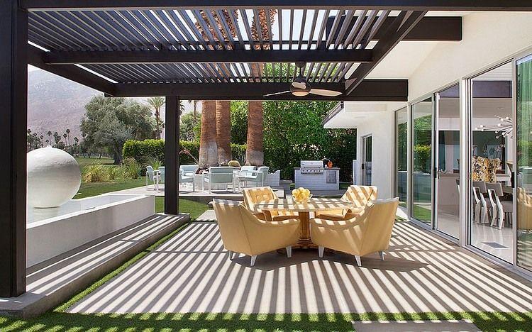 Colorful Modern Mix By Joel Dessaules Design Modern Pergola Designs Modern Pergola Pergola Designs