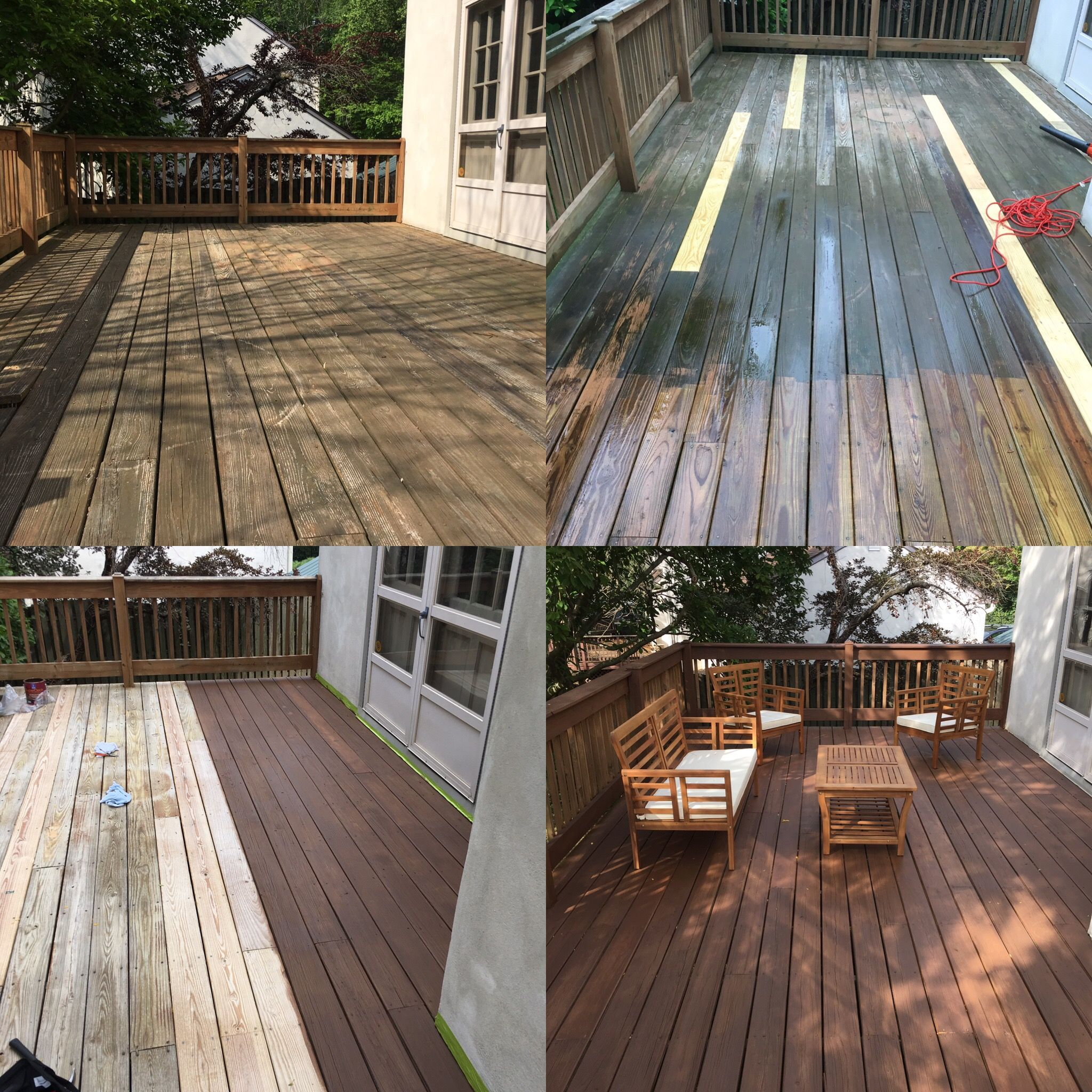 Deck Renovation With Sherwin Williams Hawthorne Semisolid Stain Deck Renovation Staining Deck Deck Design