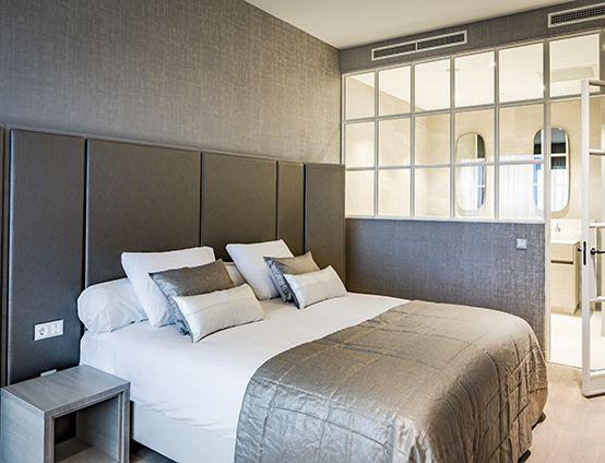 Slaapkamer Als Hotelkamer : Stock foto hippe slaapkamer hotelkamer grit