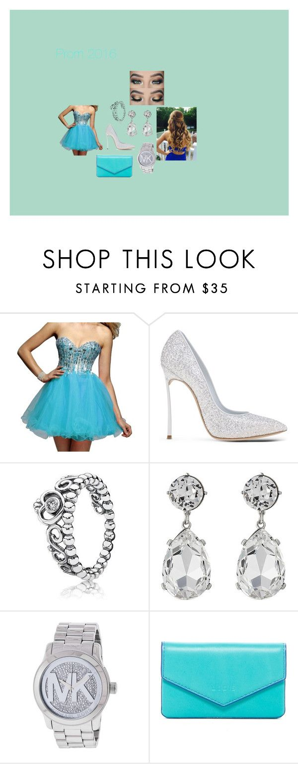 """""""Prom 2016"""" by kaeleigh-247 on Polyvore featuring Clarisse, Casadei, Pandora, Kenneth Jay Lane, Michael Kors and Lodis"""