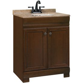 24-1/2-in Cognac Weston Single Sink Bathroom Vanity with Top ...