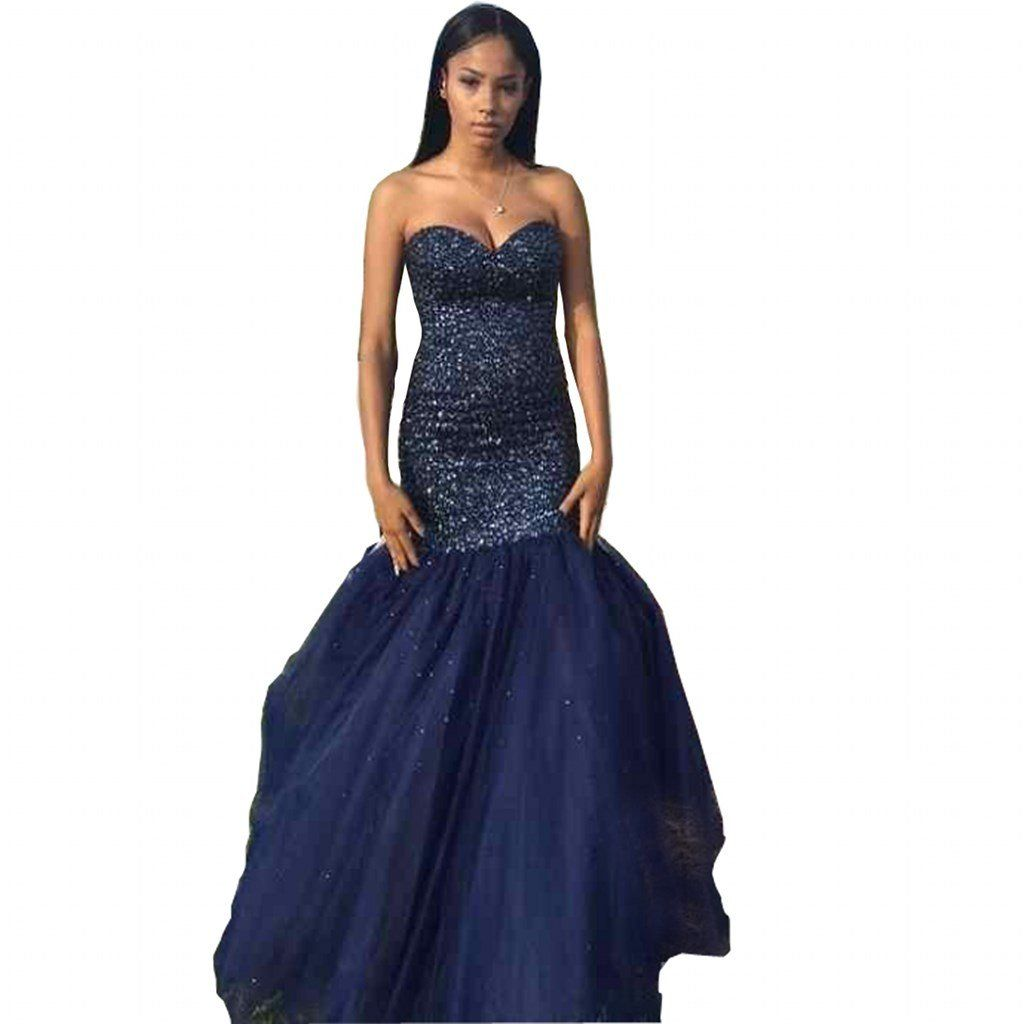 Chady gorgeous sexy royal blue prom dresses long sweetheart