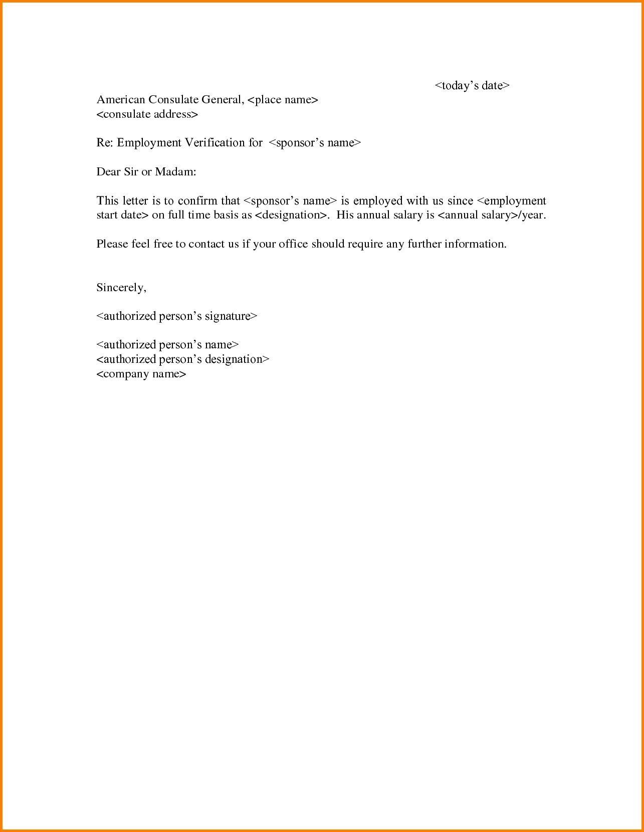 Certification Letter Tenant Sample Employment For Bonafide