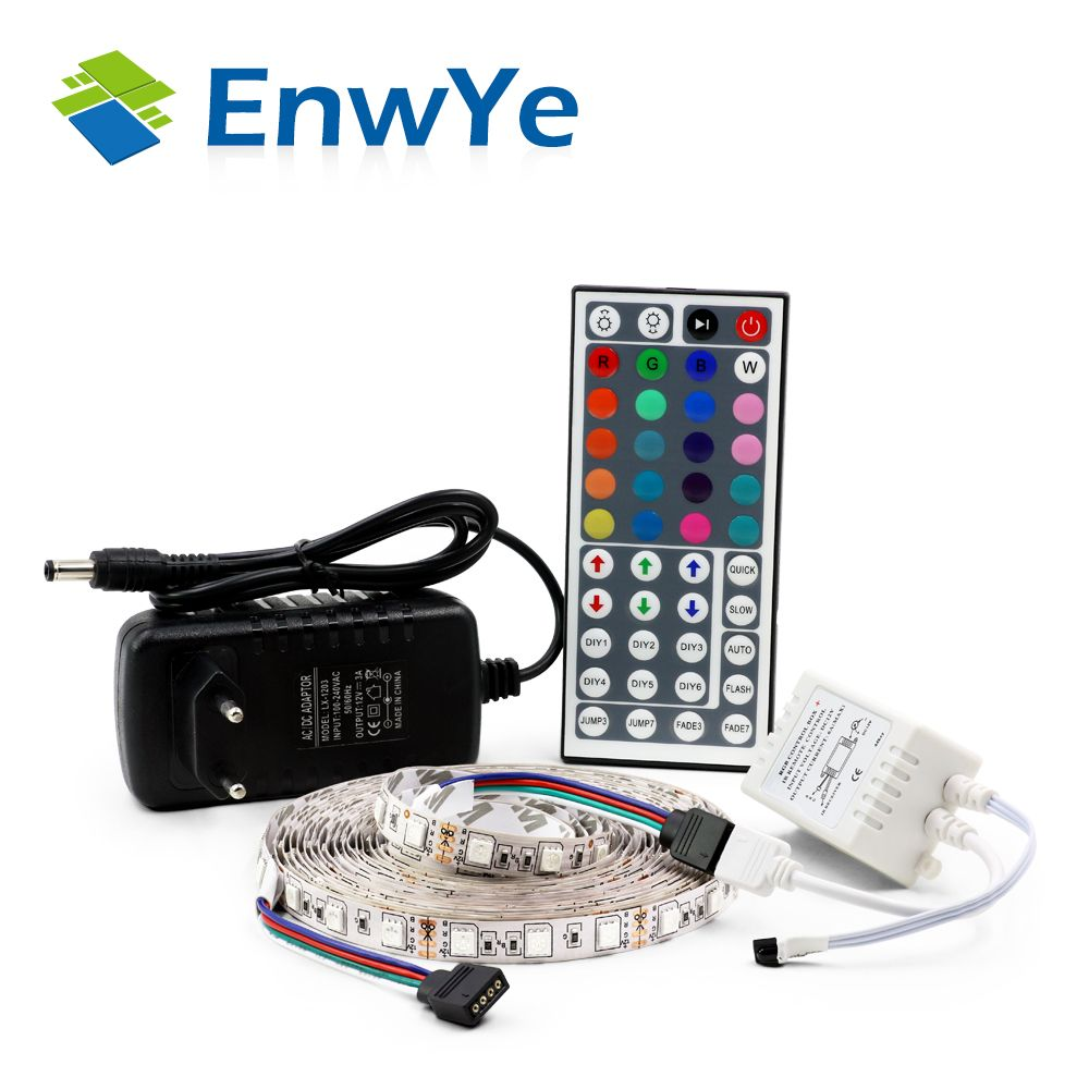 Enwye 5050 rgb led strip waterproof 5m 300led dc 12v led light enwye 5050 rgb led strip waterproof 5m 300led dc 12v led light strips flexible neon tape mozeypictures Image collections
