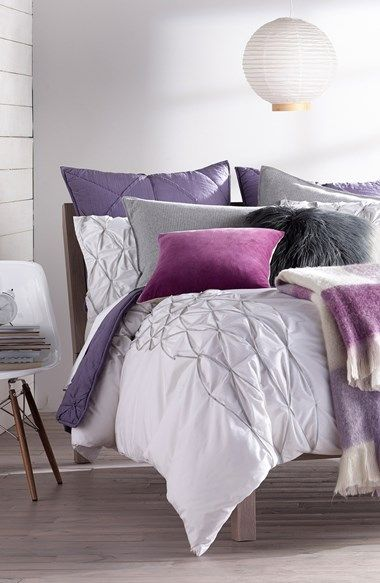 This purple bedroom will be perfect with some lavender scented
