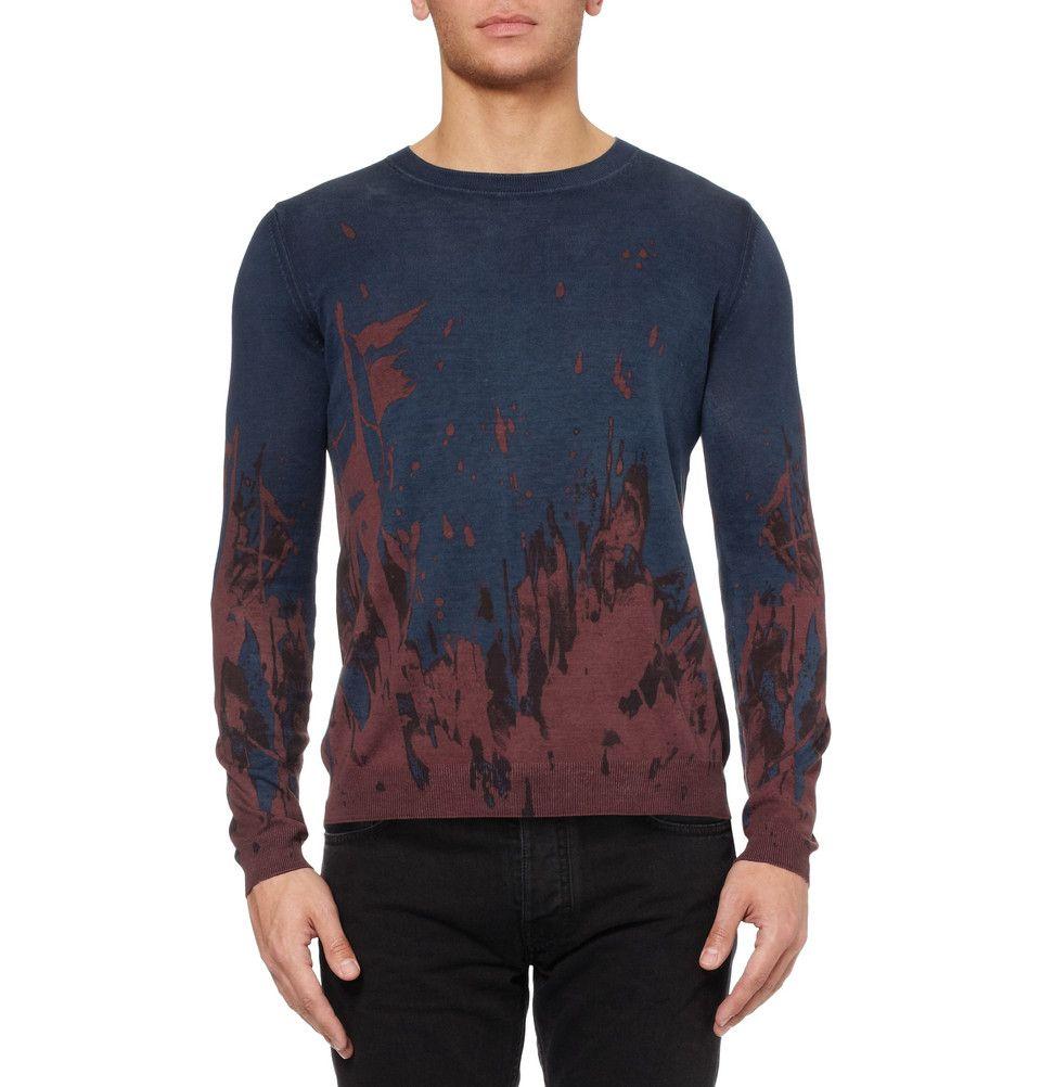 McQ Alexander McQueenPrinted Silk and Cotton-Blend Sweater