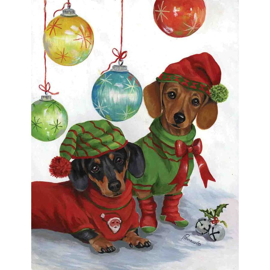 Precious Pet Paintings Dachshund 2.33-ft W x 3.33-