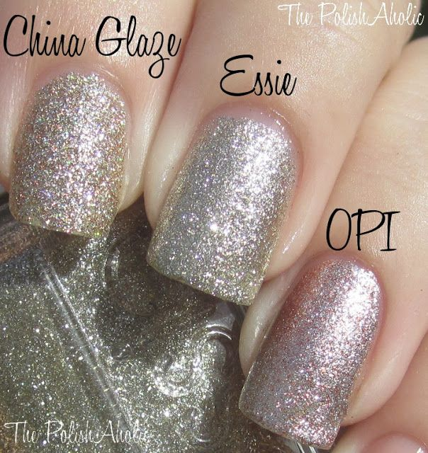 """Essie-Beyond Cozy vs. ChG-I'm Not Lion vs. OPI-Designer De Better. """"Again, no dupes between these 3 but, maybe similar enough to skip."""" / ThePolishAholic"""
