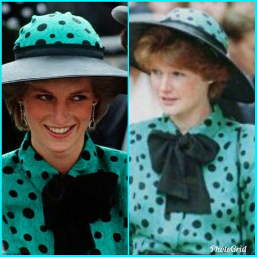 Diana first wore this dress and hat to Prince Andrew and