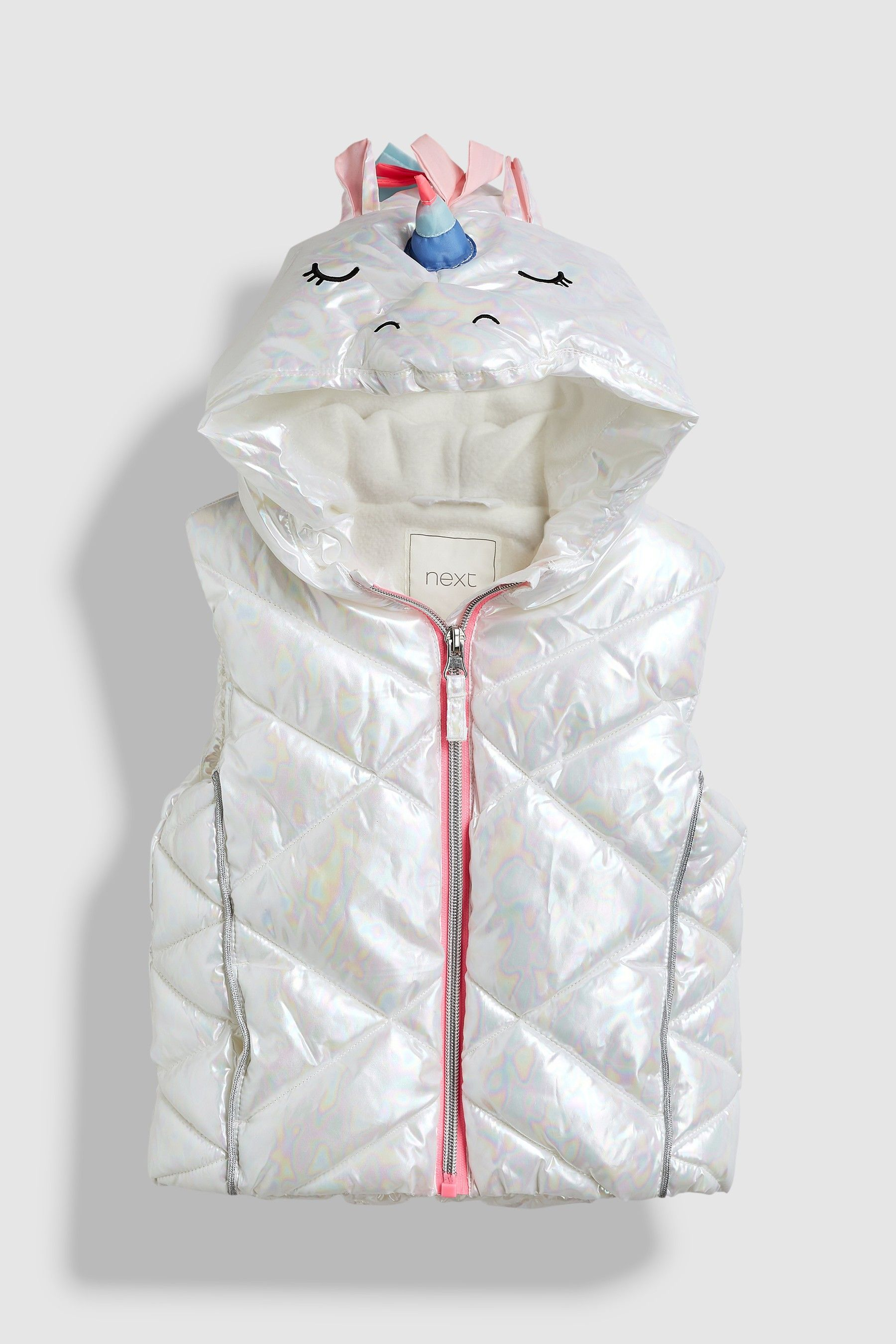 576b9616752cd Girls Next White Unicorn Gilet (3mths-6yrs) - White | Products ...