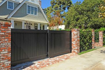 Brick Pillars And Wrought Iron Fence For Design Ideas ...