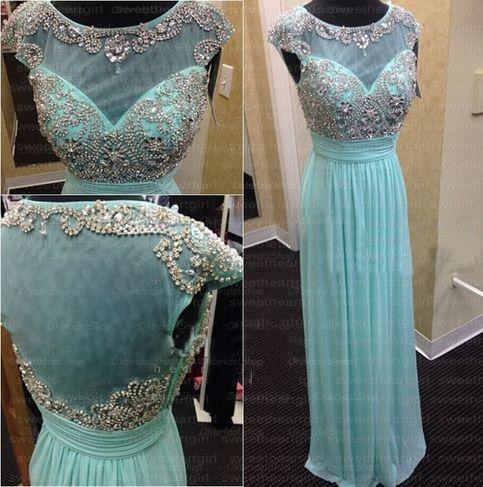 Sheer back prom dress