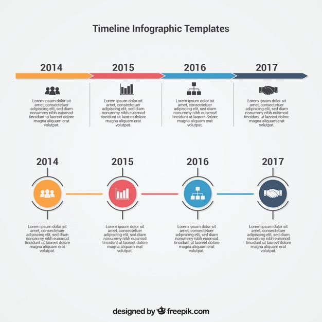 Infographic timeline template Free Vector Chart Pinterest - timeline template for kids