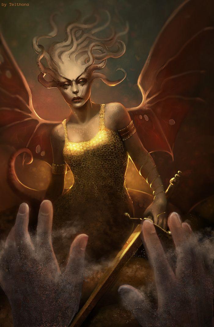 A Górgona é uma criatura da mitologia grega, representada como um ...