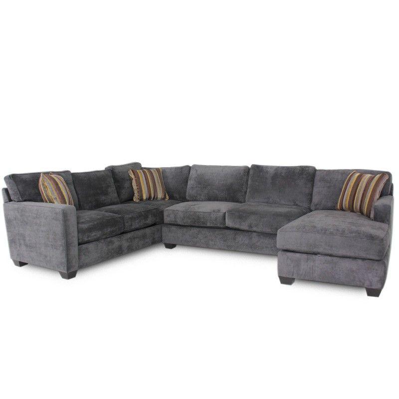 Jonathan Louis Bradford Albroke Plum Sectional Sofa Living Room Gallery Furniture