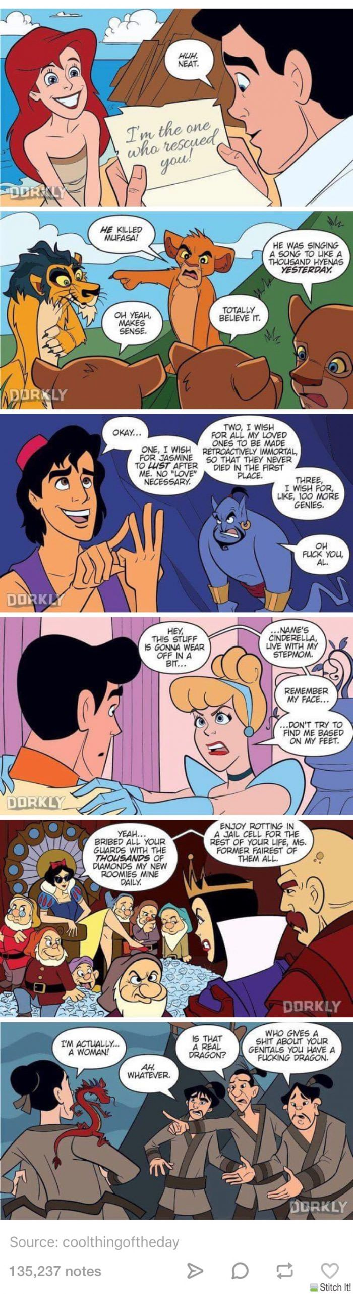 If Disney movies had quicker endings - 9GAG