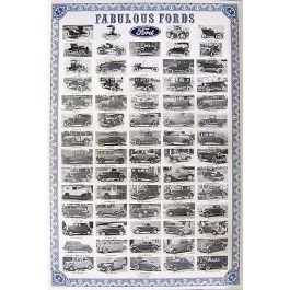 Poster - Fabulous Fords - Laminated In Plastic - 25 X 37