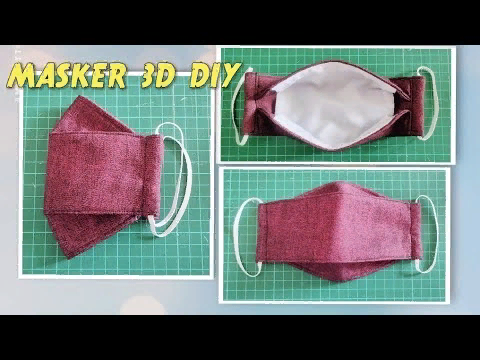 (34) 3D Face Mask DIY Cara Membuat Masker 3D YouTube