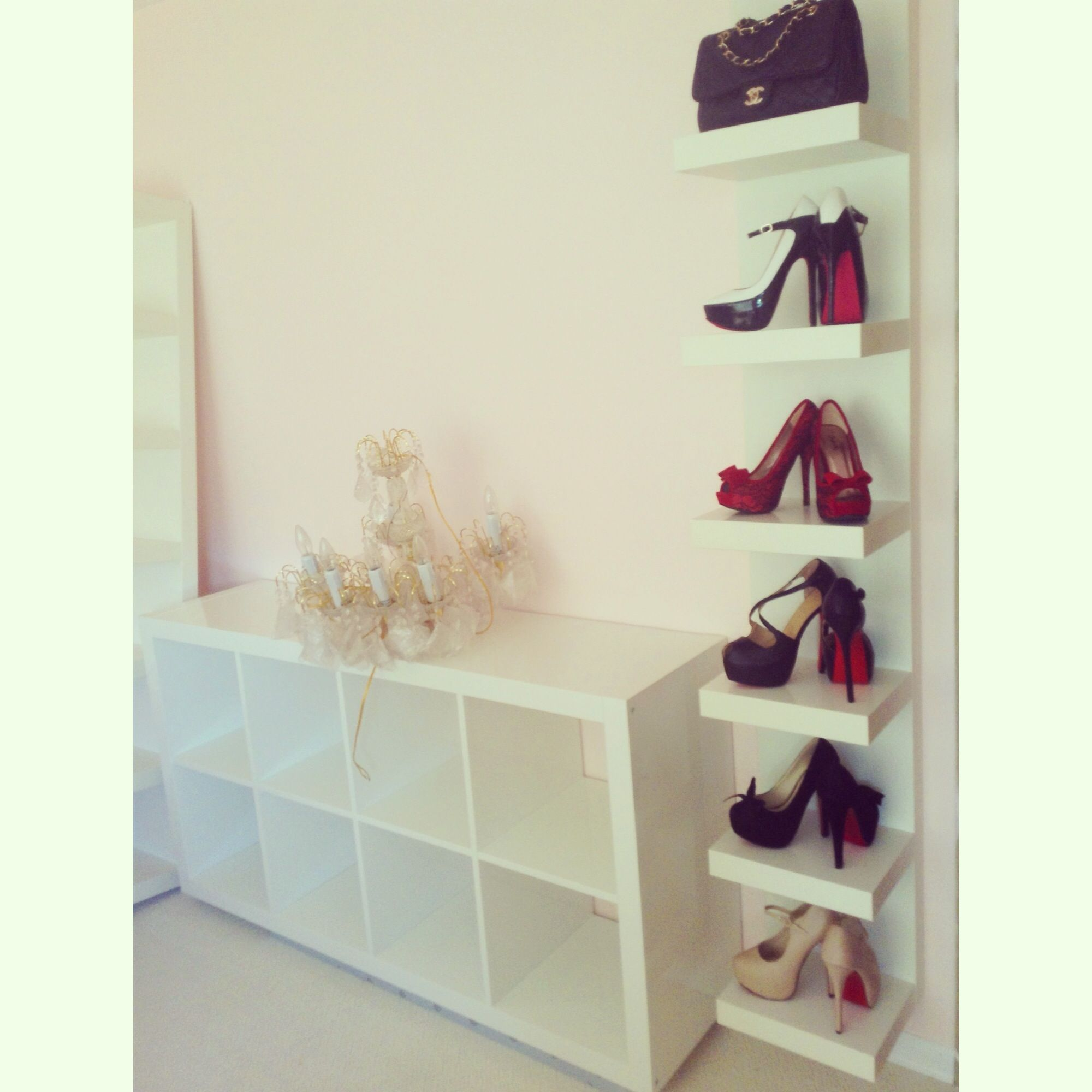 shoe wall ikea lack shelf shoes pinterest shoe