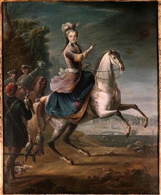 Marie Leczinska, Queen of France, 1725 by Jean-Baptiste Martin (1659-1735)