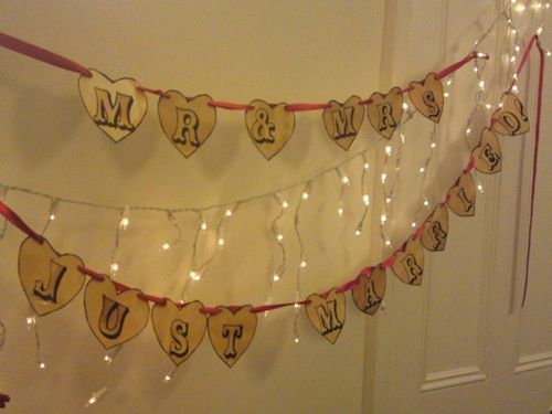 How To Make A Wedding Banner Vintage Carnival Style